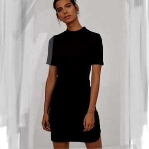 Mock Neck Ribbed mini dress